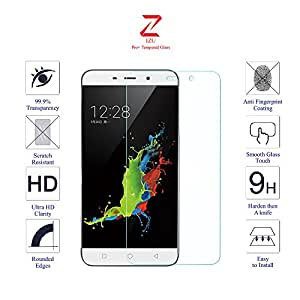 Coolpad Note 3 Glass Screen Protector Tempered Glass-Pack of 1 , IZU® Pro Tempered Glass Ballistics Glass, 99% Touch-screen Accurate, Anti-Scratch, Anti-Fingerprint, Round Edge [0.3mm] Ultra-clear - Retail Packaging