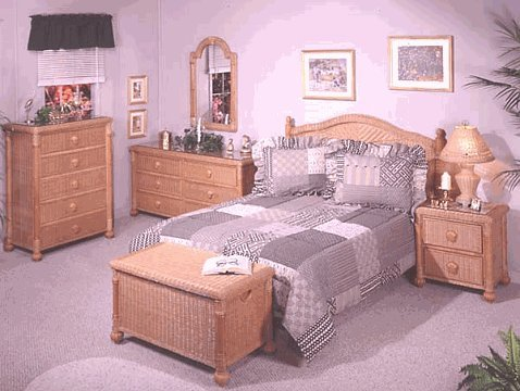 Wicker Dresser Furniture front-1065050