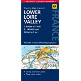 AA Road Map Lower Loire Valley (AA Touring Map France 03) (Road Map France)