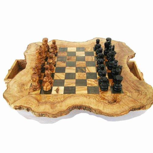 Schachspiel Olivenholz, Schachspiel Olivenholz, Schach OlivenholzX Olivenholz Schachbrett, Schach aus Olivenholz