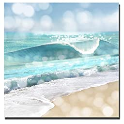 Ocean Reflections I by Kate Carrigan Custom Gallery-Wrapped Canvas Giclee Art (Ready to Hang)