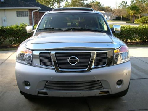 TRex Grilles 21784 Horizontal Aluminum Polished Finish Billet Grille Overlay for Nissan Armada (2012 Nissan Armada Grille compare prices)