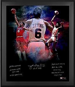 """Julius Erving Philadelphia 76ers Framed Autographed 20"""" x 24"""" In Focus"""