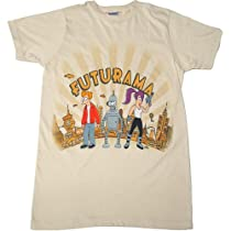 Futurama The City Mens Slim Fit T-Shirt