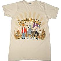 Futurama The City Mens Slim Fit T-Shirt