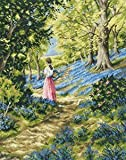 Picking Bluebells Cross Stitch Kit