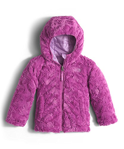 The North Face Toddler Girls` Reversible Mossbud Swirl Jacket Lupine Size 3T
