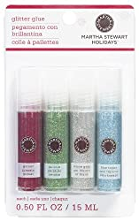 Martha Stewart Crafts Christmas Glitter Glue, 4-Pack