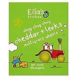 Ella's Kitchen Organic Chug Chug Chug Cheddar & Leeks Mutligrain Wheels 12mth+ (4 per pack - 60g)