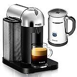 Nespresso VertuoLine Coffee & Espresso Machine - with Aeroccino+ Frother (Chrome)