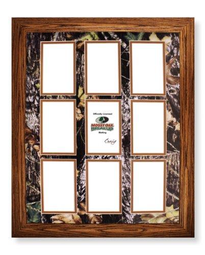 16x20 Wood Frame With 9 Opening Mossy Oak Break Up Camo