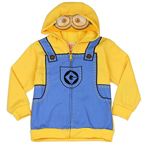 Despicable Me Little Boys Minion Costume Hoodie with Mesh Mask