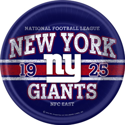 New York Giants Dinner Plates (8 per package) [Toy] - 1