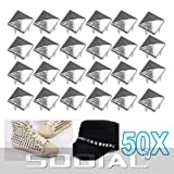 SODIAL(R) 50 Pyramid Square Nailhead Studs Spike Tacks --- Great for DIY Crafts