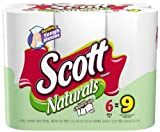 Scott Naturals, Choose a Size Mega Roll (2.5X Regular), 1 Ply, White-6pk
