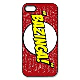 US CBS Television Sitcom The Bazinga Big Bang Theory Protective PC Hard Plastic Apple iPhone 5 5s Case Cover,Top iPhone 5 5s Case from Good luck to