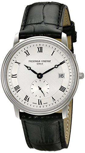 Frederique Constant  Watches hottest offer: Frederique Constant Men's FC245M4S6 Slim Line Analog Display Swiss Quartz Black Watch