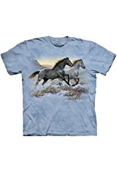 The Mountain Running Free Horse Child and Adult T-shirt