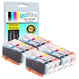 4 Compatible C/M/Y Sets of 3 Canon CLI-521 Colour Printer Ink Cartridges (12 Inks) - Cyan / Magenta / Yellow for Canon Pixma iP3600, iP4600, iP4700, MP540, MP550, MP560, MP620, MP630, MP640, MP980, MP990, MX860, MX870