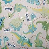 Babyville Boutique 35006 PUL Fabric, Dinos, 64-Inch x 6-Yard Bolt