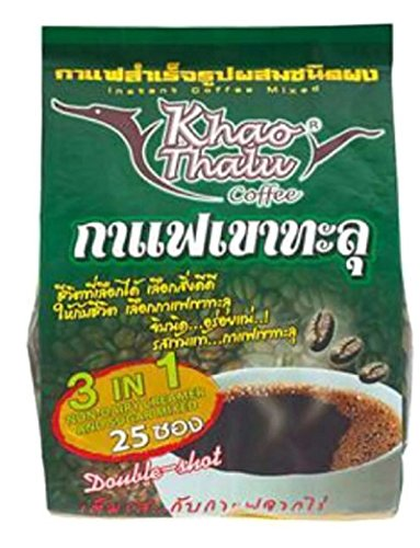 KHAOTHALU INSTANT COFFEE MIXED DOUBLE SHOT 18G. PACK 25SACHETS (Gloria Jeans Whole Bean Coffee compare prices)