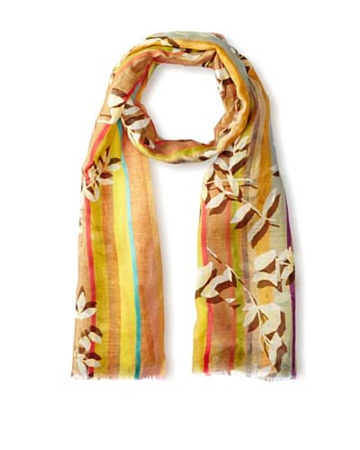Saachi Women's Printed Scarf, Gold, One Size
