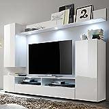 TV-Wohnwand-in-Wei-Hochglanz-online-kaufen-Mit-Beleuchtung-Pharao24