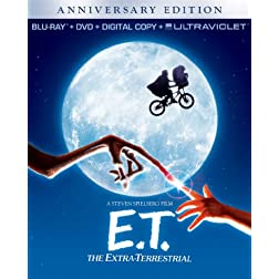 E.T. The Extra-Terrestrial Anniversary Edition (Combo Pack: Blu-ray + DVD + Digital Copy + UltraViolet)