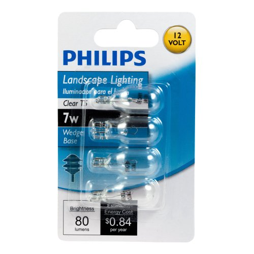 philips 416957 landscape lighting 7 watt t5 12 volt wedge base light bulb new ebay