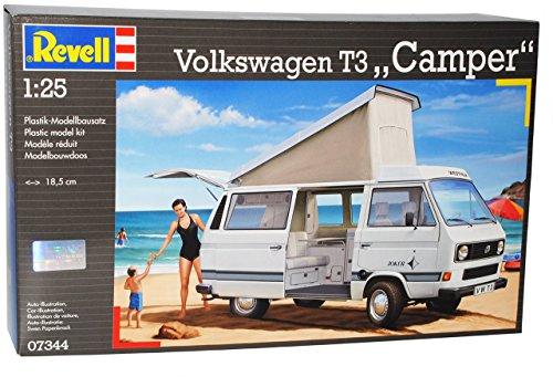 VW-Volkswagen-T3-T-3-Transporter-Camper-Bus-07344-Bausatz-Kit-124-Revell-Modellauto-Modell-Auto
