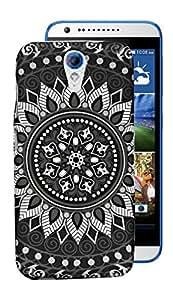 ECellStreet Exclusive Designer Bandhani Printed Soft Back Case Cover Back Cover For HTC Desire 620 / 620G - Design 9