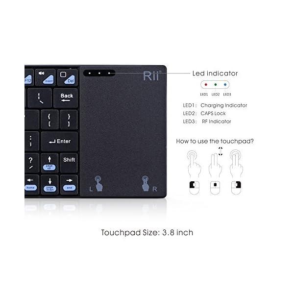 2016-NouveautRii-K12-Ultra-mince-24GHz-GFSK-Mini-Clavier-Sans-Filwireless-AZERTY-version-franaise-3-Indicateurs-LED-avec-Grande-Taille-de-Touchpad-Souris-Inoxydable-Couvercle-en-Acier-and-Build-in-Li-