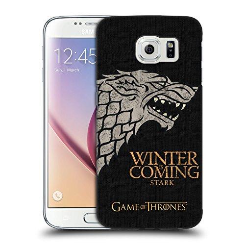 Ufficiale HBO Game Of Thrones Stark Motto Della Casata Cover Retro Rigida per Samsung Galaxy S6
