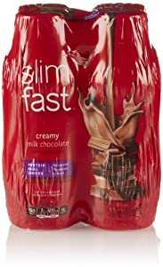 SlimFast Ready To Drink Shakes, Creamy Milk Chocolate (4 Pack, 10 Fl Oz Each)