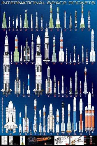 ポスター 世界の宇宙ロケット International Space Rockets