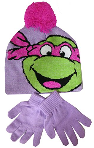 Gilrs TMNT Teenage Mutant Ninja Turtles Hat and Gloves Set [4012] (Teenage Mutant Ninja Turtles Girls)