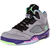 Nike Mens Air Jordan 5 Retro Bel Air Cool Grey Suede Basketball-shoes Size 10