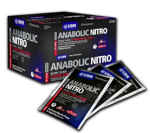 USN Anabolic Nitro 20 g Berry Pre-Workout Energy Drink Powder Sachets  - Box of 30