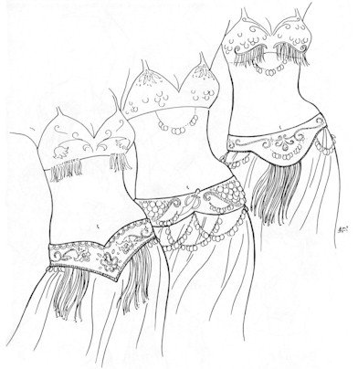 Tahia's Alibeck's Belly Dance Belts Pattern