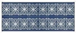 Camco 42831 Reversible Outdoor Mat (8\' x 20\', Blue Botanical)