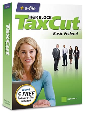 H&R Block TaxCut 2008 Basic Federal + e-file [OLD VERSION]
