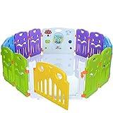 LCP Kids CORRAL - Box per bambini a 12 lati con cancelletto et + Giochi in un pannello
