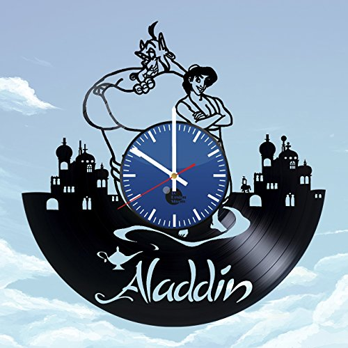ALADDIN-AND-JASMINE-HANDMADE-Vinyl-Record-Wall-Clock-Get-unique-bedroom-wall-decor-Gift-ideas-for-baby-children-kids-Disney-Unique-Art-Leave-us-a-feedback-and-win-your-custom-clock