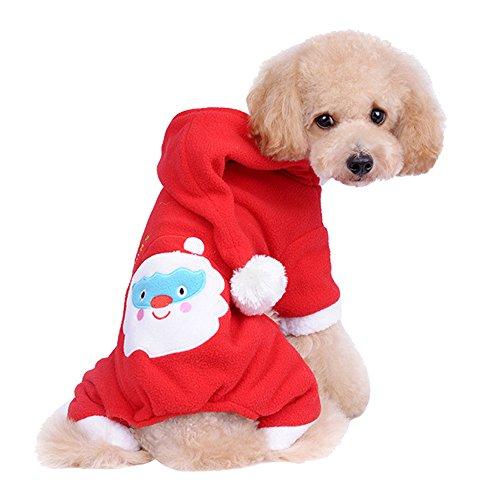 Forepin® Pet Vestito Dal Cucciolo Del Maglietta Costume Inverno Maglione Cappotto Tuta Con Cappuccio Piccolo Animale Domestico Cagnolino (Pantaloni L)