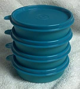 Tupperware Little Wonder Bowl Set of 4, Teal