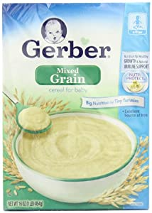 Gerber Mixed Grain Cereal for Baby, 16-Ounce Boxes (Pack of 6)