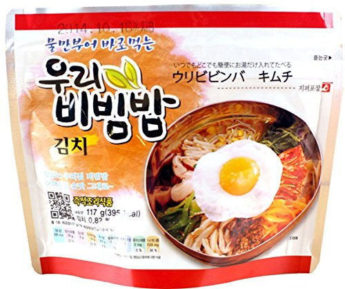 MRE Meals Ready to Eat 1 Pack of Bibimbap Korean Mixed Rice Bowl100g (3.53oz) 335 Kcal (Kimchi) (Kimchi Rice compare prices)