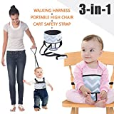Umin 3-in-1 Portable High Chair Belt,Toddler Safety Walking Harness Wrap,Shopping Cart Safety Strap