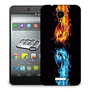 Snoogg Cool And Hot Fist Designer Protective Back Case Cover For MICROMAX Q416