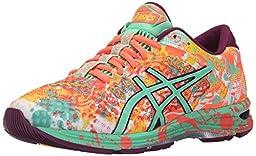 ASICS Women\'s Gel-Noosa Tri 11 Running Shoe, Flash Coral/Spring Bud/Sun, 8 M US